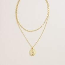 Geometric Layered Necklace