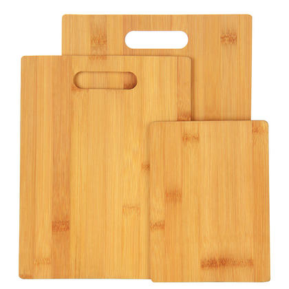 Bamboo Cutting Board Set Food Prep Premium Chopping Board Non-Slip Kitchen 3Pcs/Pack - SortWise™