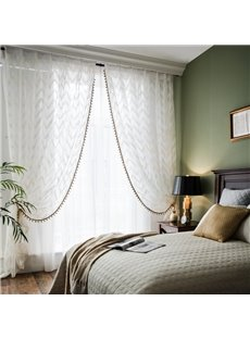 American Ins Style Romantic Custom Voile Sheer Curtains for Living Room and Bedroom