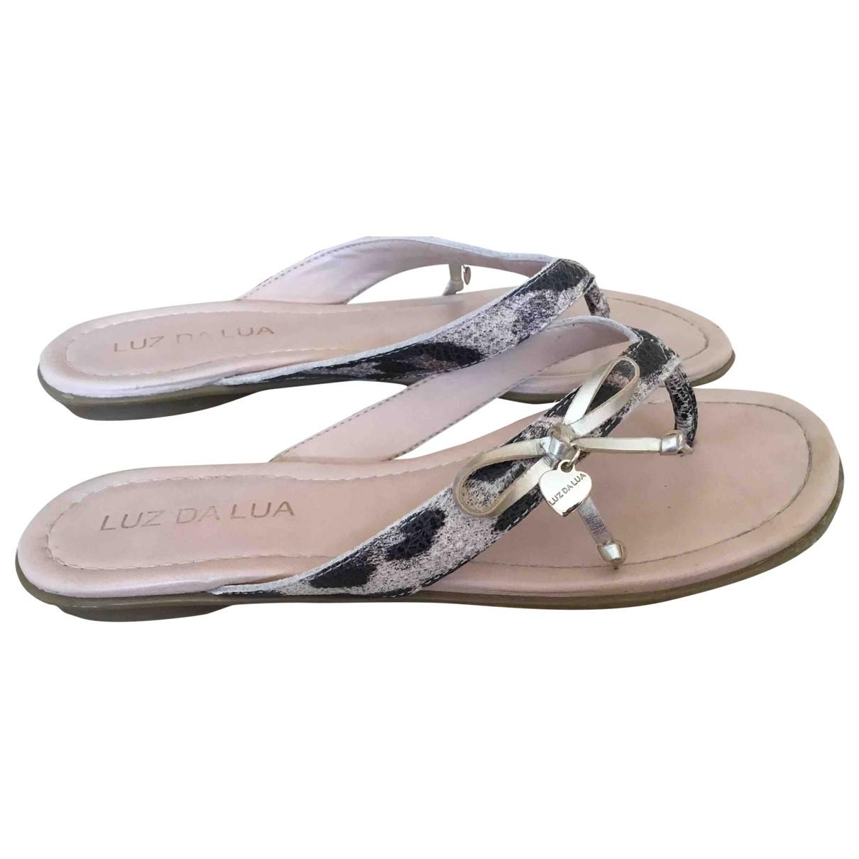 - Sandales Hippie Chic pour femme en cuir - multicolore