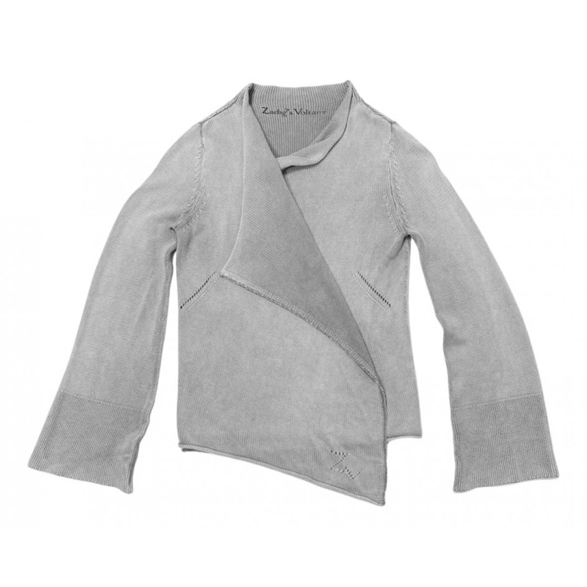 Zadig & Voltaire - Pull   pour femme en coton - gris