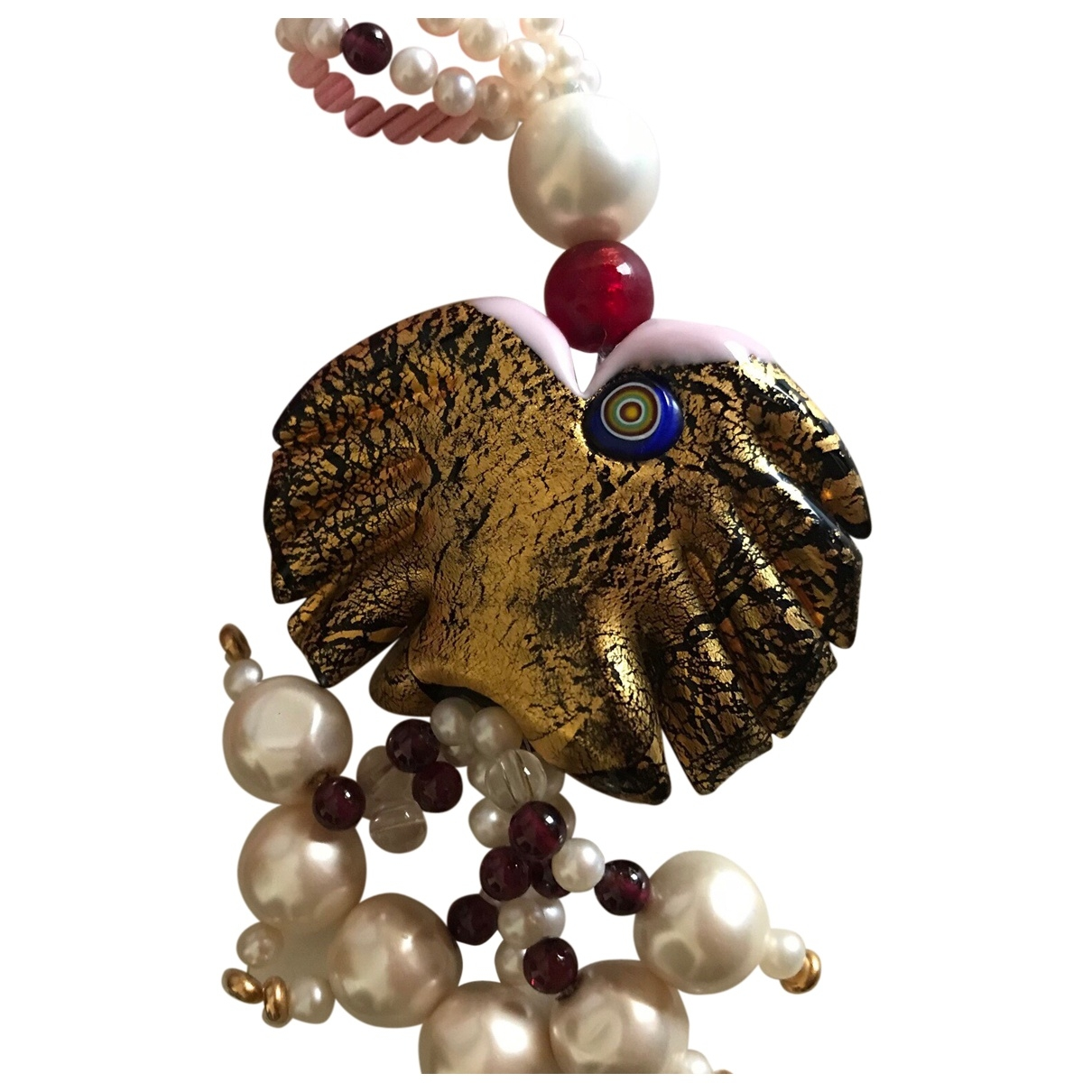 - Collier   pour femme en perles - rose