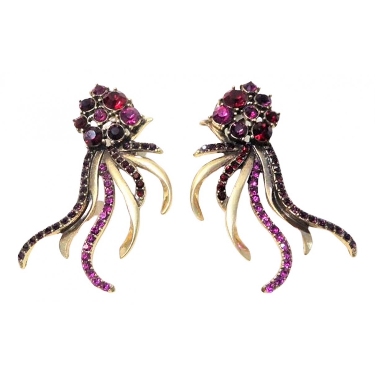 Oscar De La Renta N Purple Earrings for Women N
