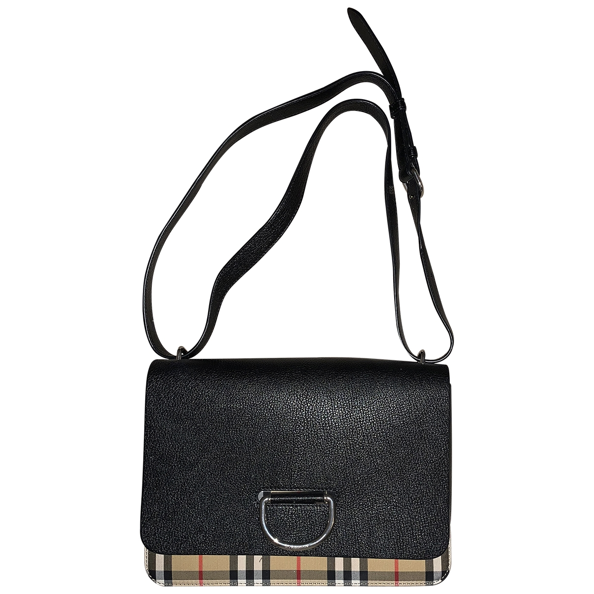 Burberry The D-ring Black Leather handbag for Women \N