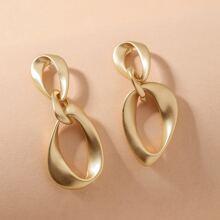 Ohrringe mit metallischer Kette