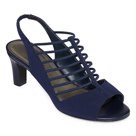 east 5th Womens Neville Heeled Sandals, 7 1/2 Medium, Blue