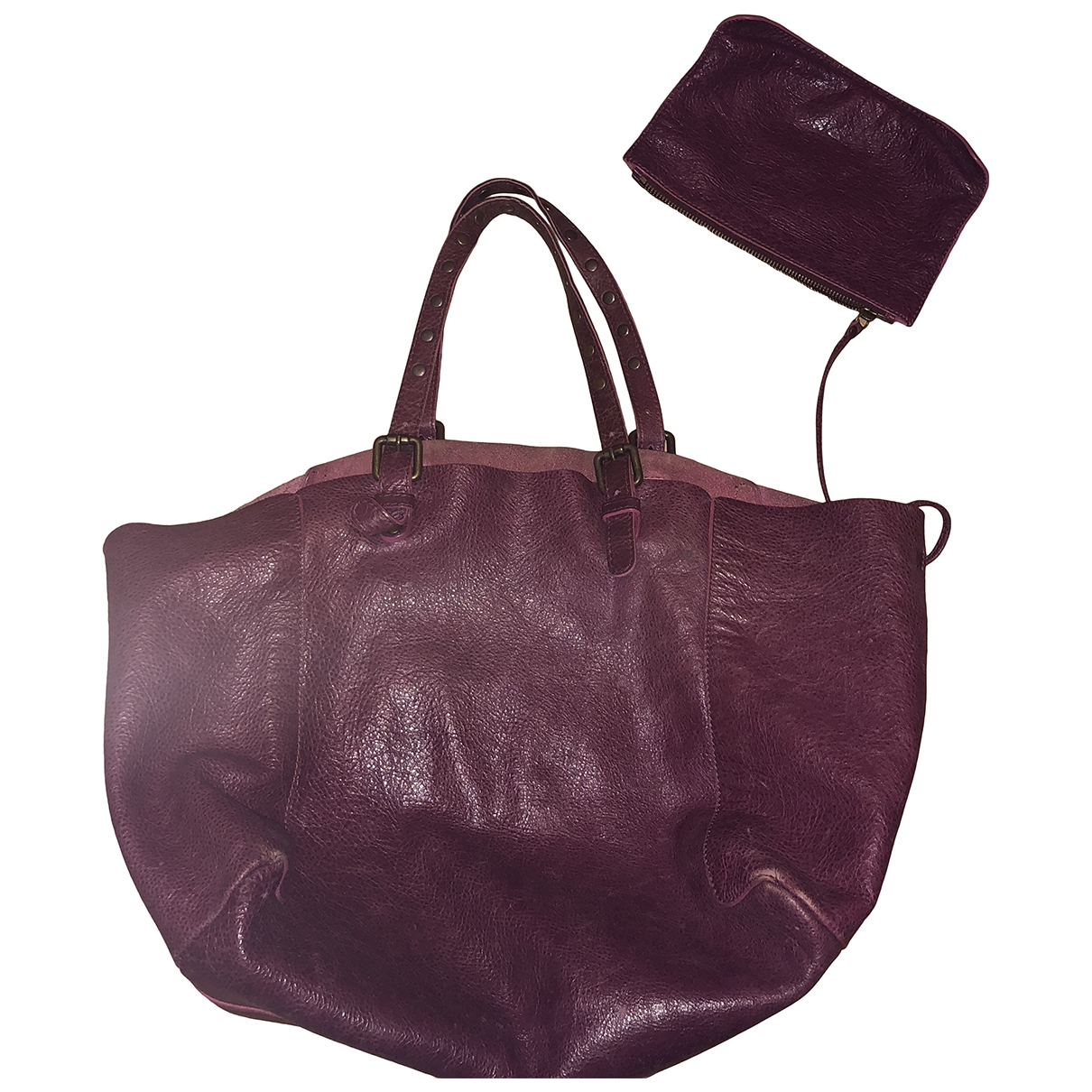 Gerard Darel \N Burgundy Leather handbag for Women \N