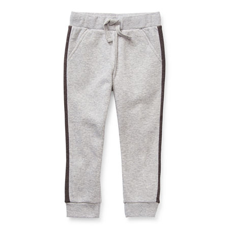 Okie Dokie Toddler Boys Mid Rise Cuffed Jogger Pant, 3t , Gray