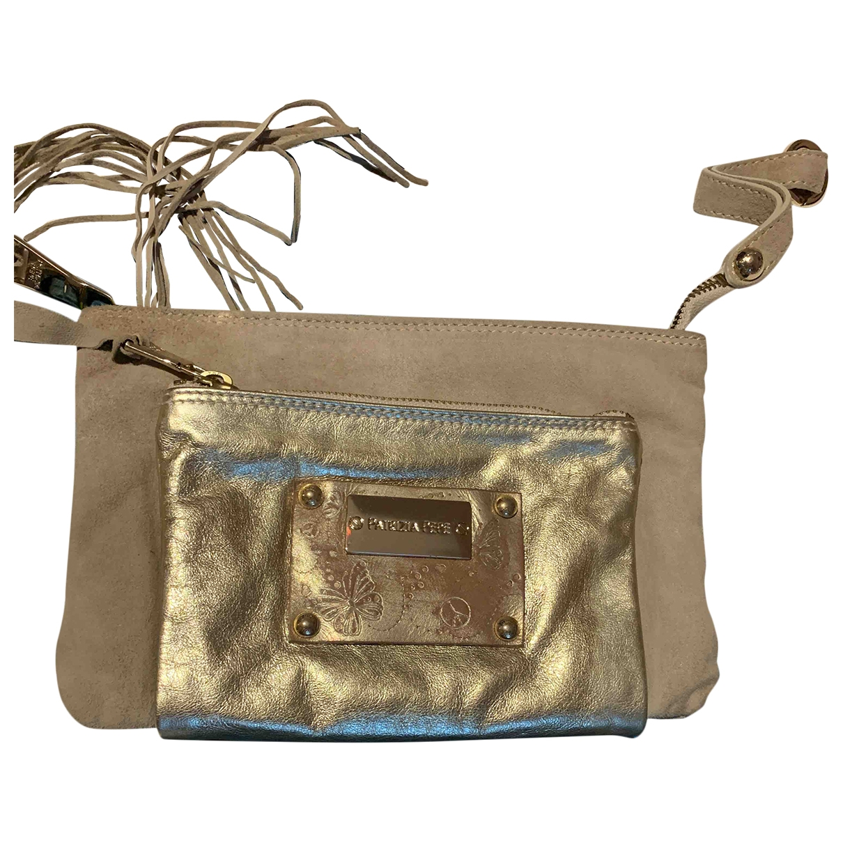 Patrizia Pepe \N Gold Suede Clutch bag for Women \N