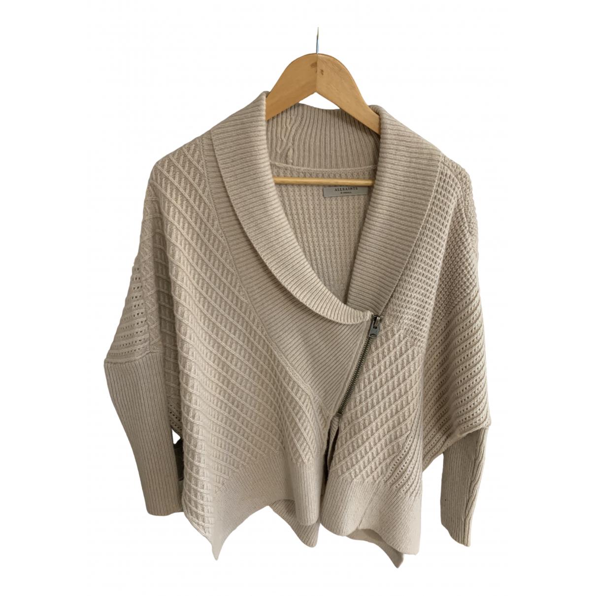 All Saints - Pull   pour femme en laine - beige