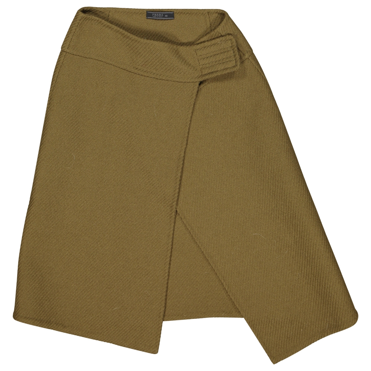 Prada \N Khaki Wool skirt for Women 40 IT