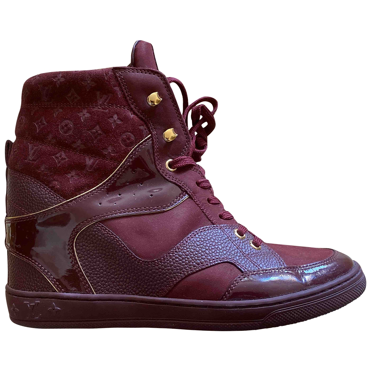 Louis Vuitton \N Burgundy Suede Trainers for Women 37.5 EU
