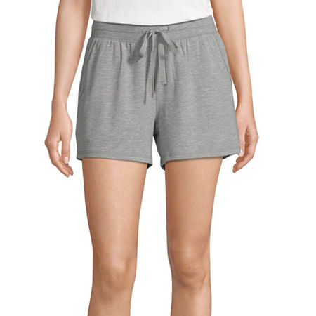 Ambrielle Womens French Terry Pajama Shorts, Xx-large , Gray