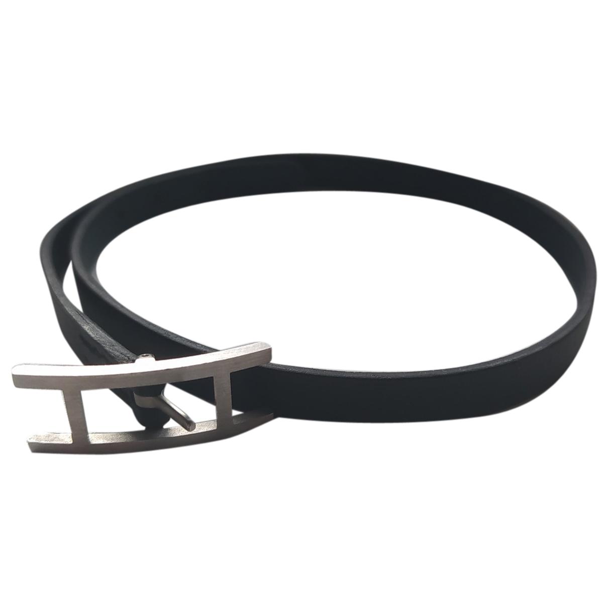 Hermes - Bracelet Behapi pour femme en cuir - marine