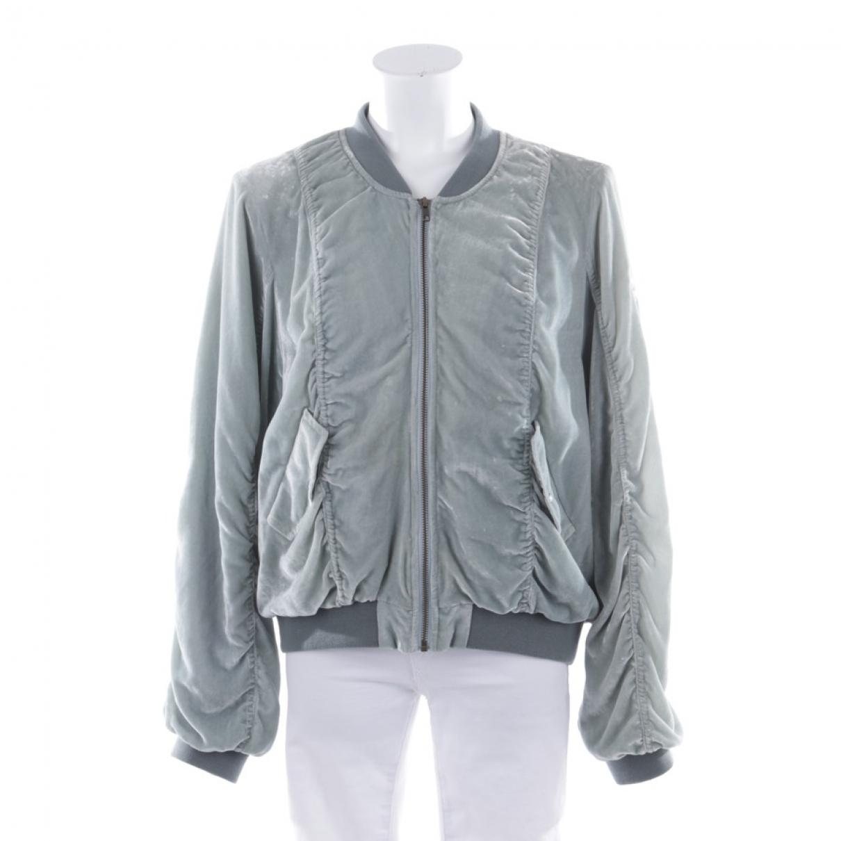 Non Signé / Unsigned \N Green Velvet jacket for Women 38 FR