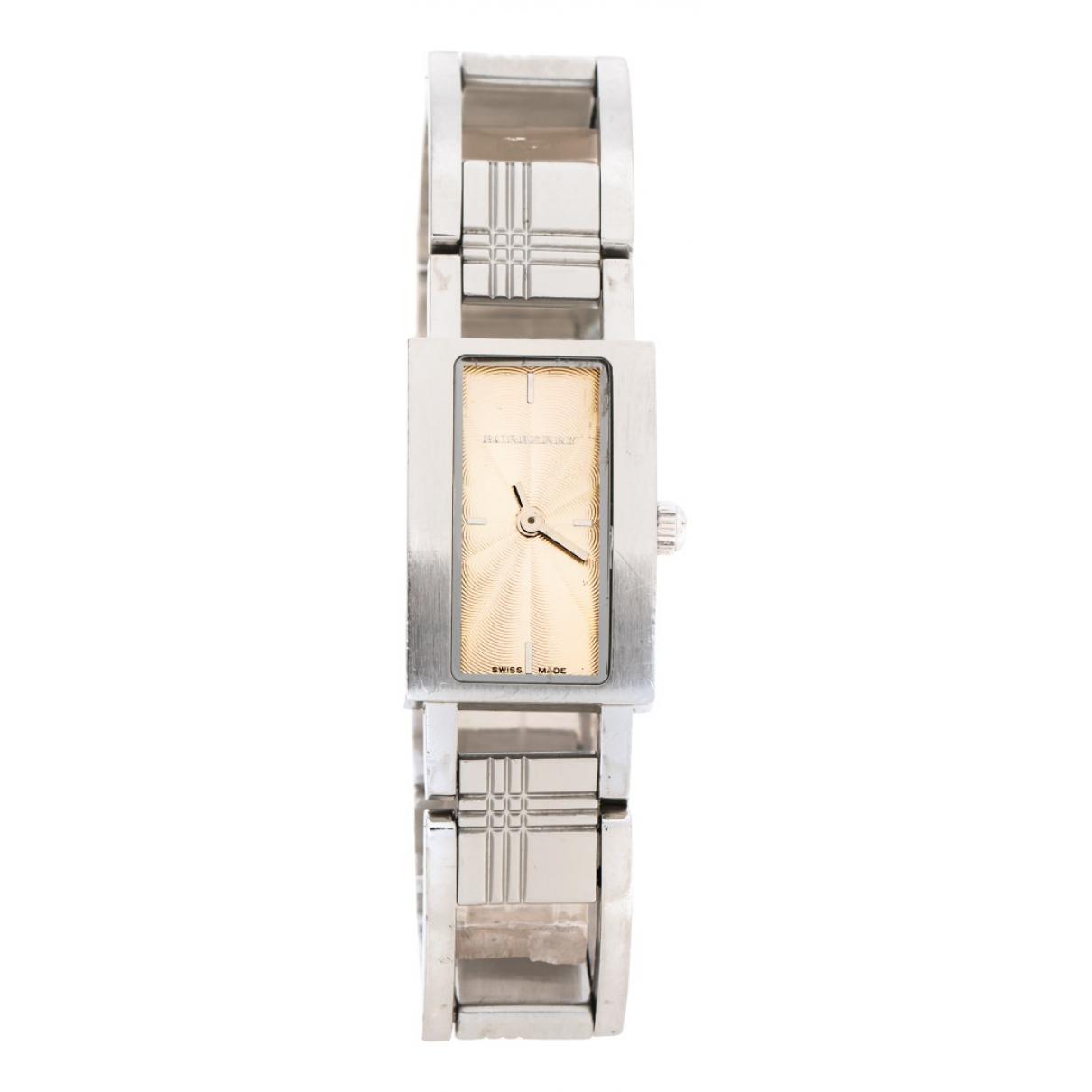 Burberry \N Uhr in  Beige Stahl