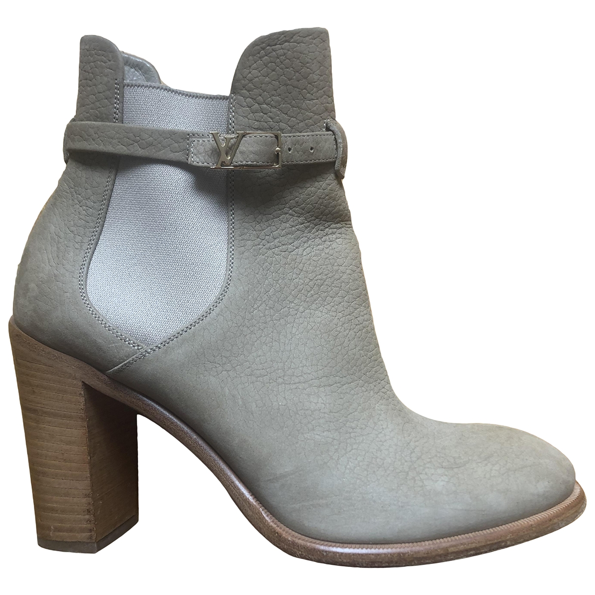 Louis Vuitton \N Beige Leather Ankle boots for Women 40 EU