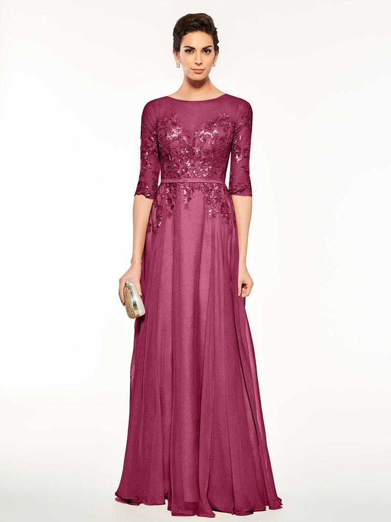 Ericdress Sequins Appliques Half Sleeves Mother of the Bride Dress