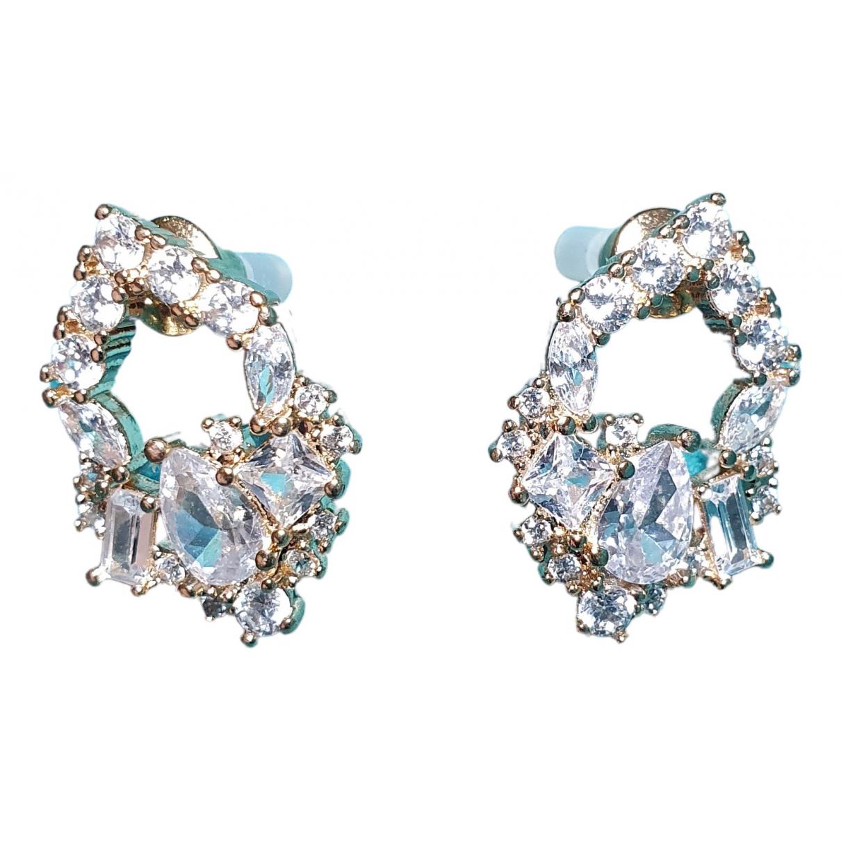 - Boucles doreilles Art Deco pour femme en metal - metallise