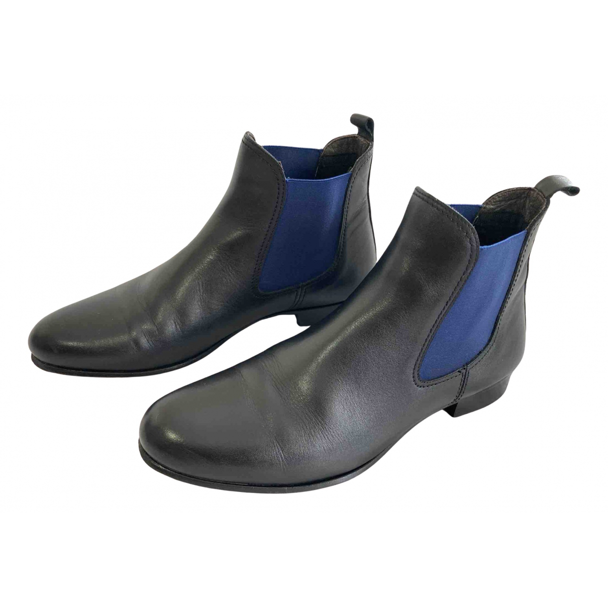 Karl Lagerfeld N Black Leather Boots for Men 42 EU