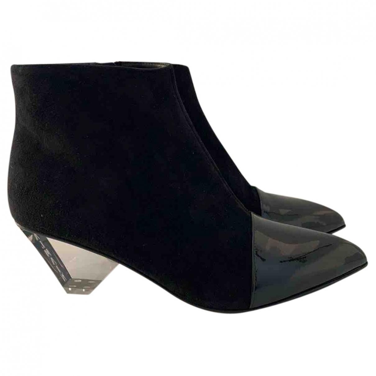 Balmain - Boots   pour femme en suede - noir