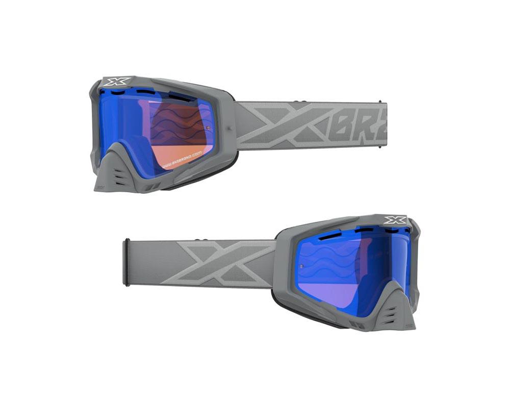 EKS Brand 067-10908 Snow-X  EKS-S Goggles Grey and Silver
