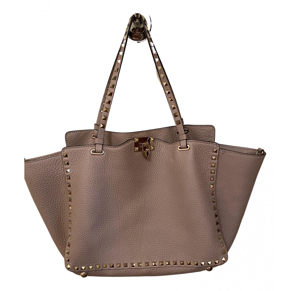 Valentino Garavani Rockstud Pink Leather handbag for Women \N