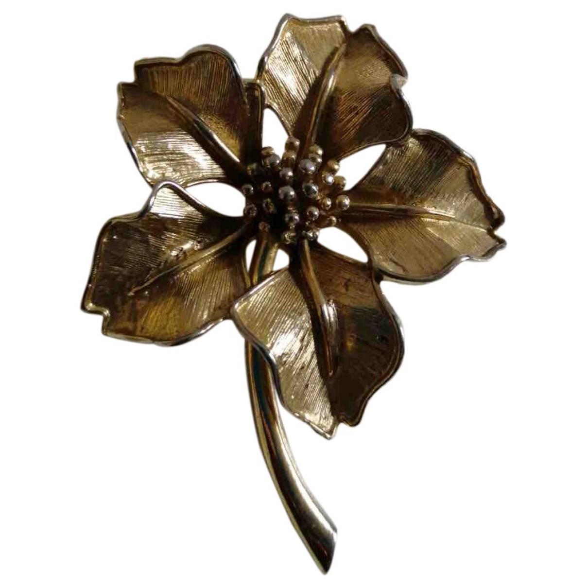 - Broche Motifs Floraux pour femme en metal - dore