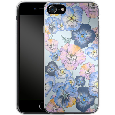 Apple iPhone 8 Silikon Handyhuelle - Pretty Pansy von Stephanie Breeze