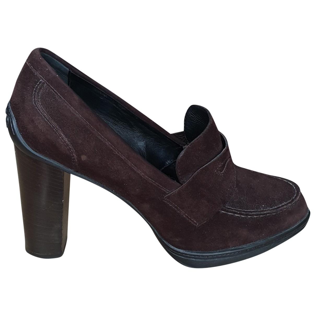 Tod's \N Brown Velvet Heels for Women 38 EU