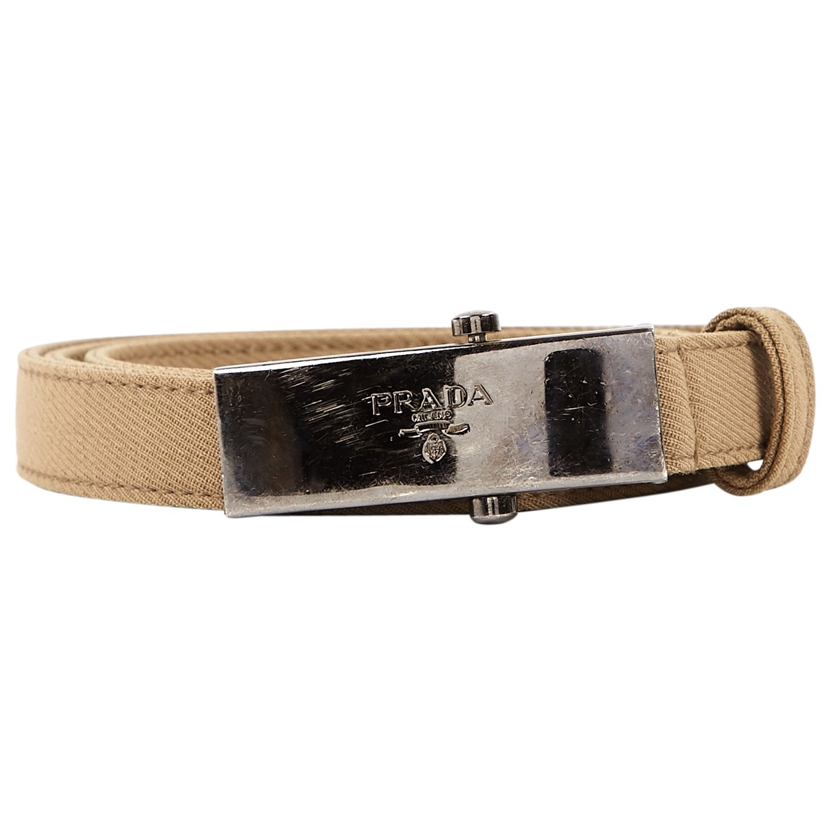 Prada \N Brown Cloth belt for Women M International