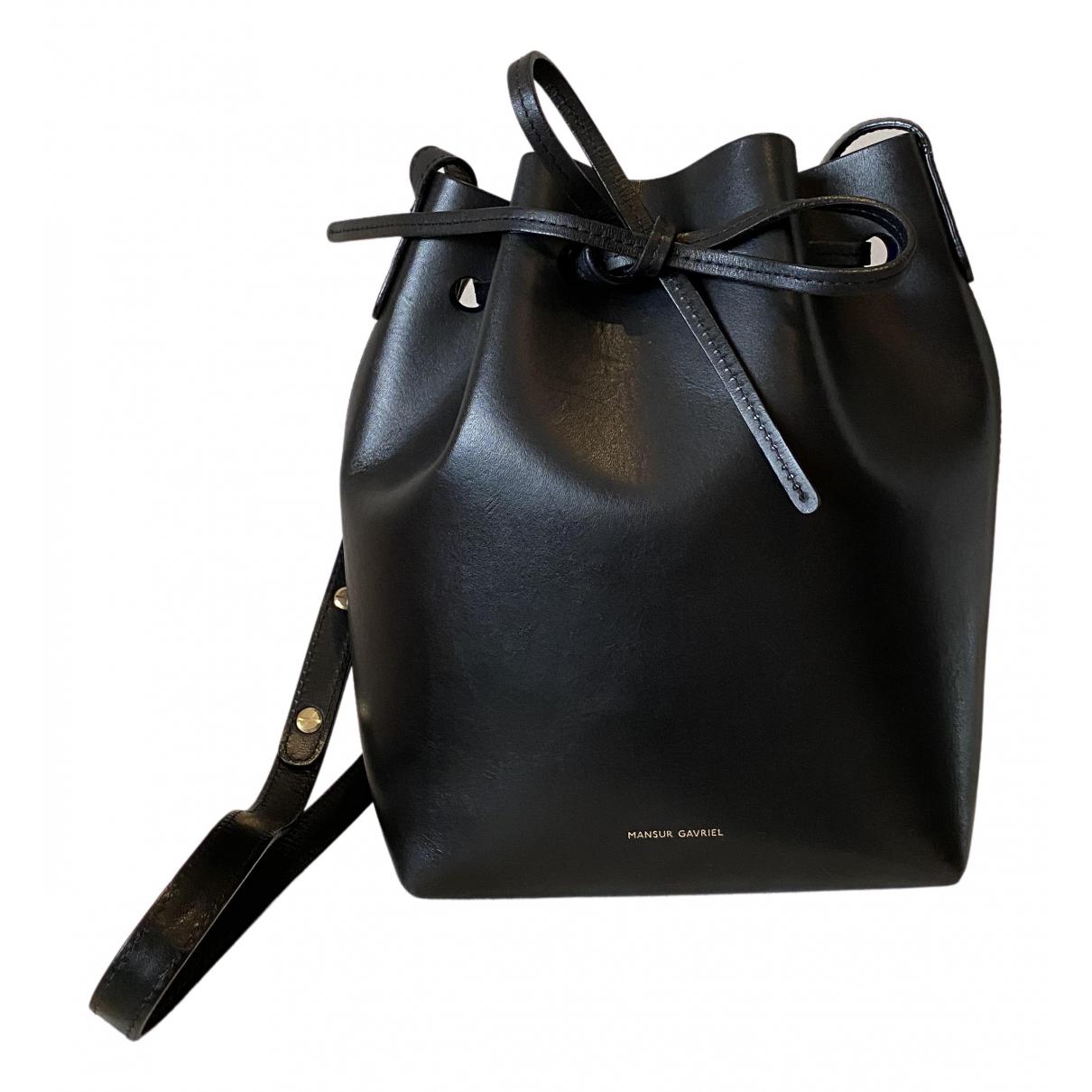 Mansur Gavriel - Sac a main Bucket pour femme en cuir - noir