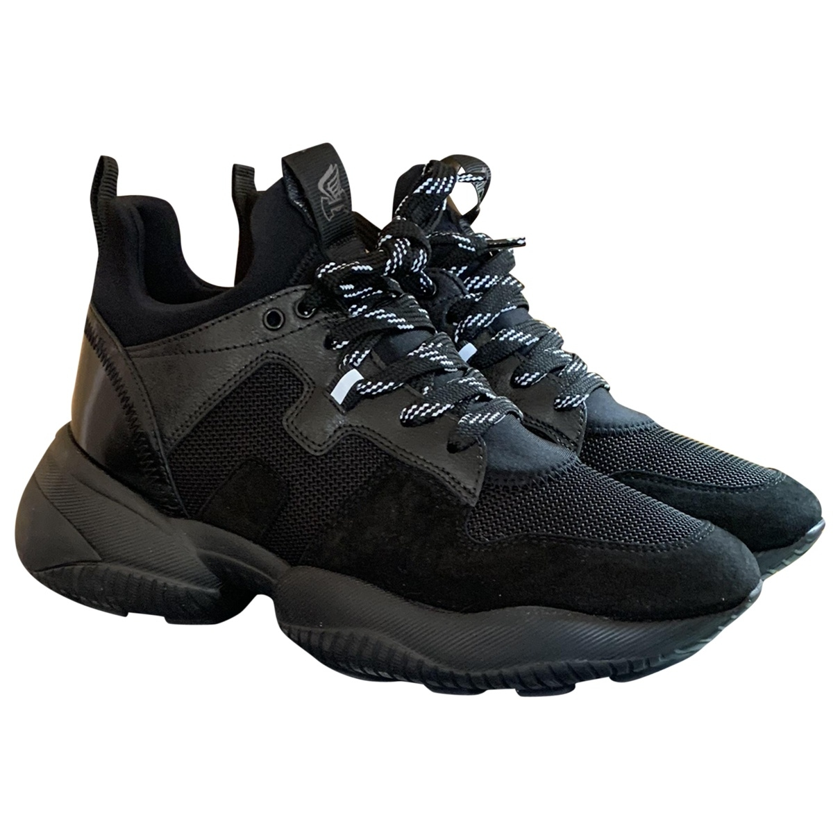 Hogan \N Black Leather Trainers for Women 40.5 IT