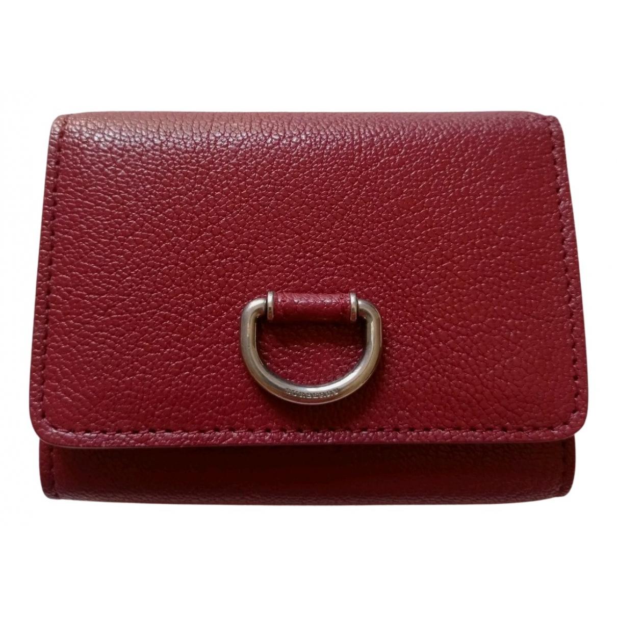 Burberry N Burgundy Leather wallet for Women N