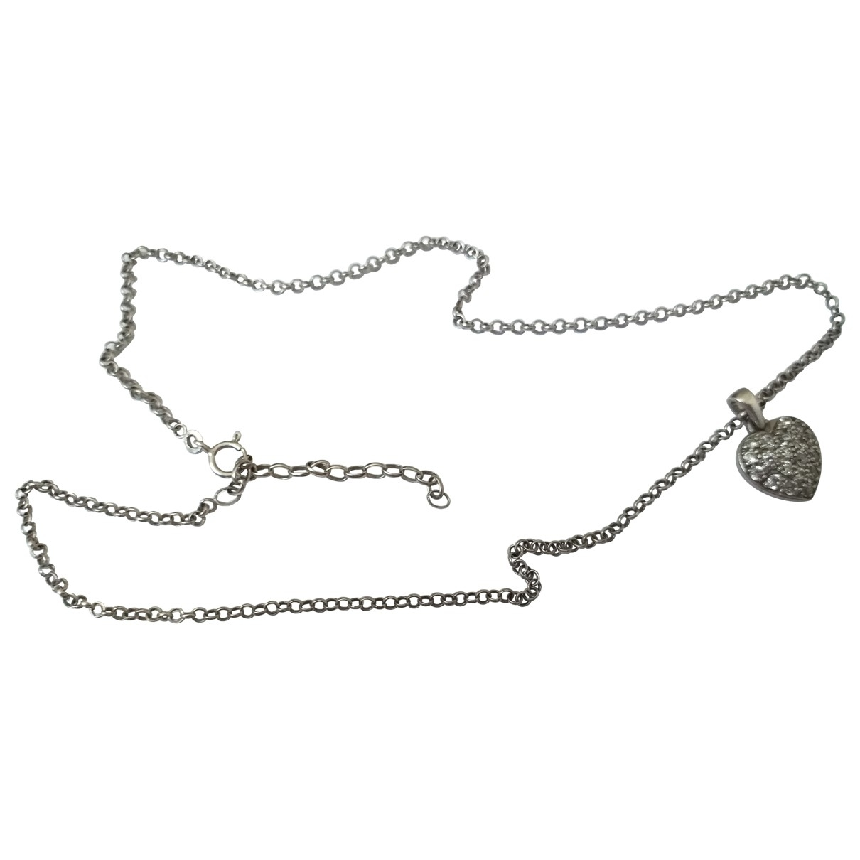 Non Signé / Unsigned Motifs Coeurs Grey Silver necklace for Women \N
