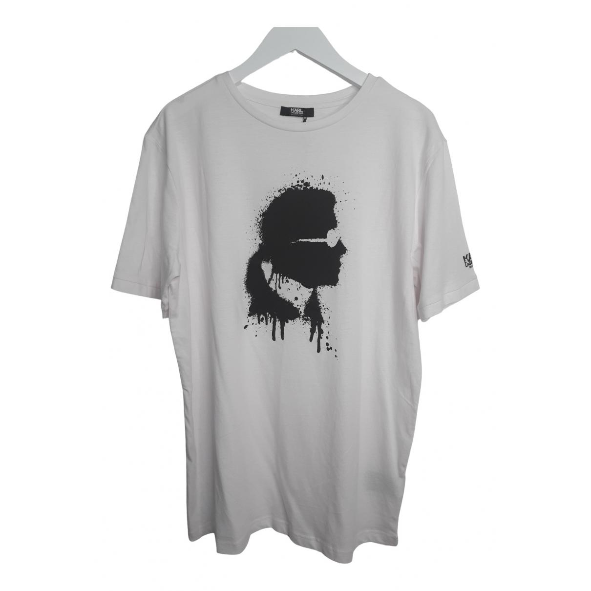 Karl \N T-Shirts in  Weiss Baumwolle