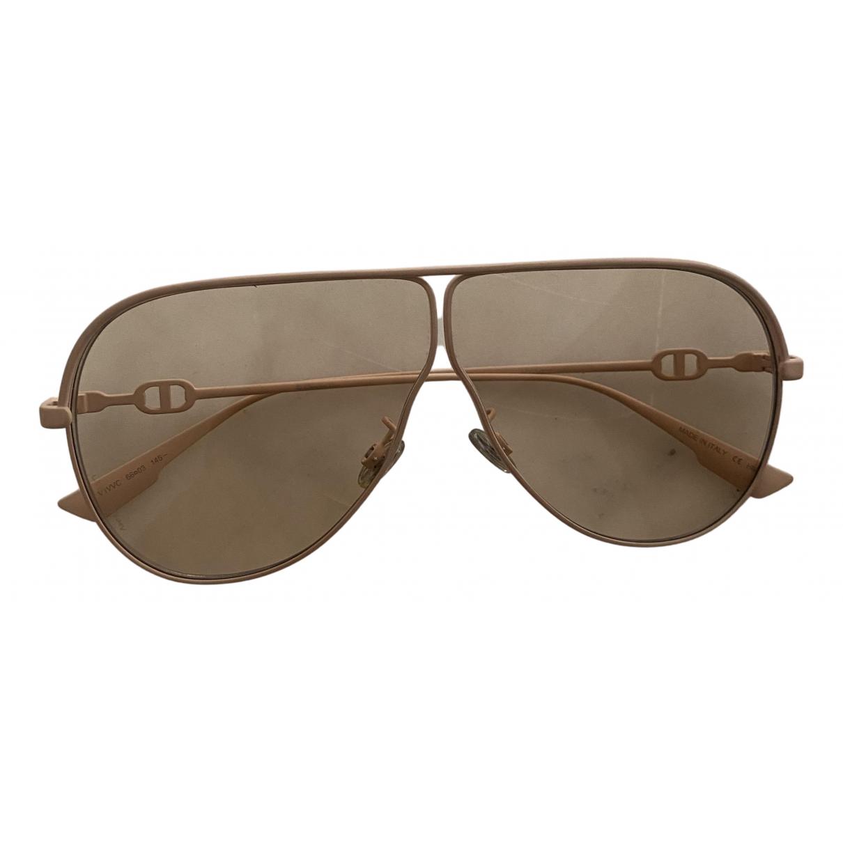 Dior N Beige Metal Sunglasses for Women N