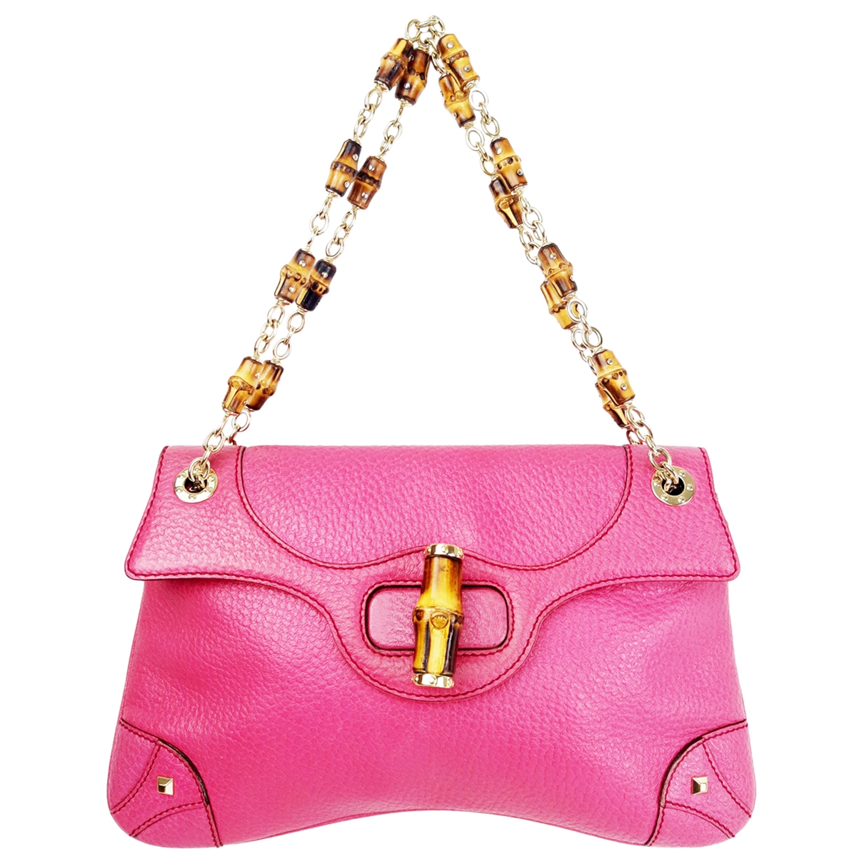 Gucci Bamboo Purple Cloth handbag for Women \N