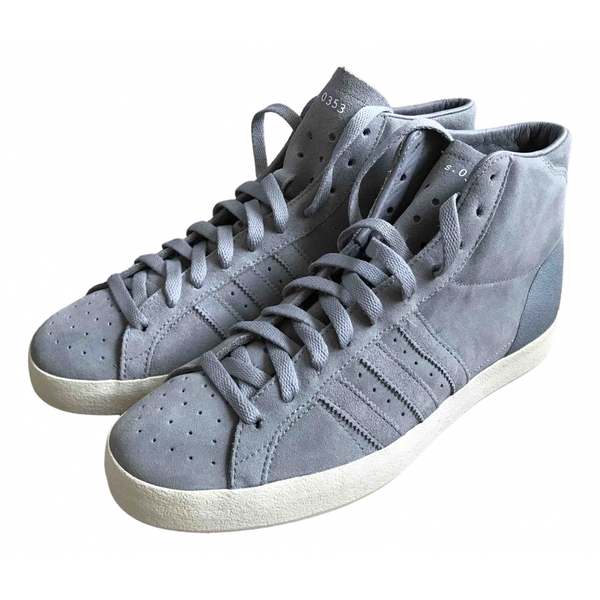 Adidas \N Grey Suede Trainers for Men 9 US