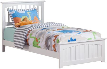 Mission Collection AR8726032 Twin Size Bed with Matching Footboard  Mission Slats Headboard  Traditional Style  Foundation Support Boards and