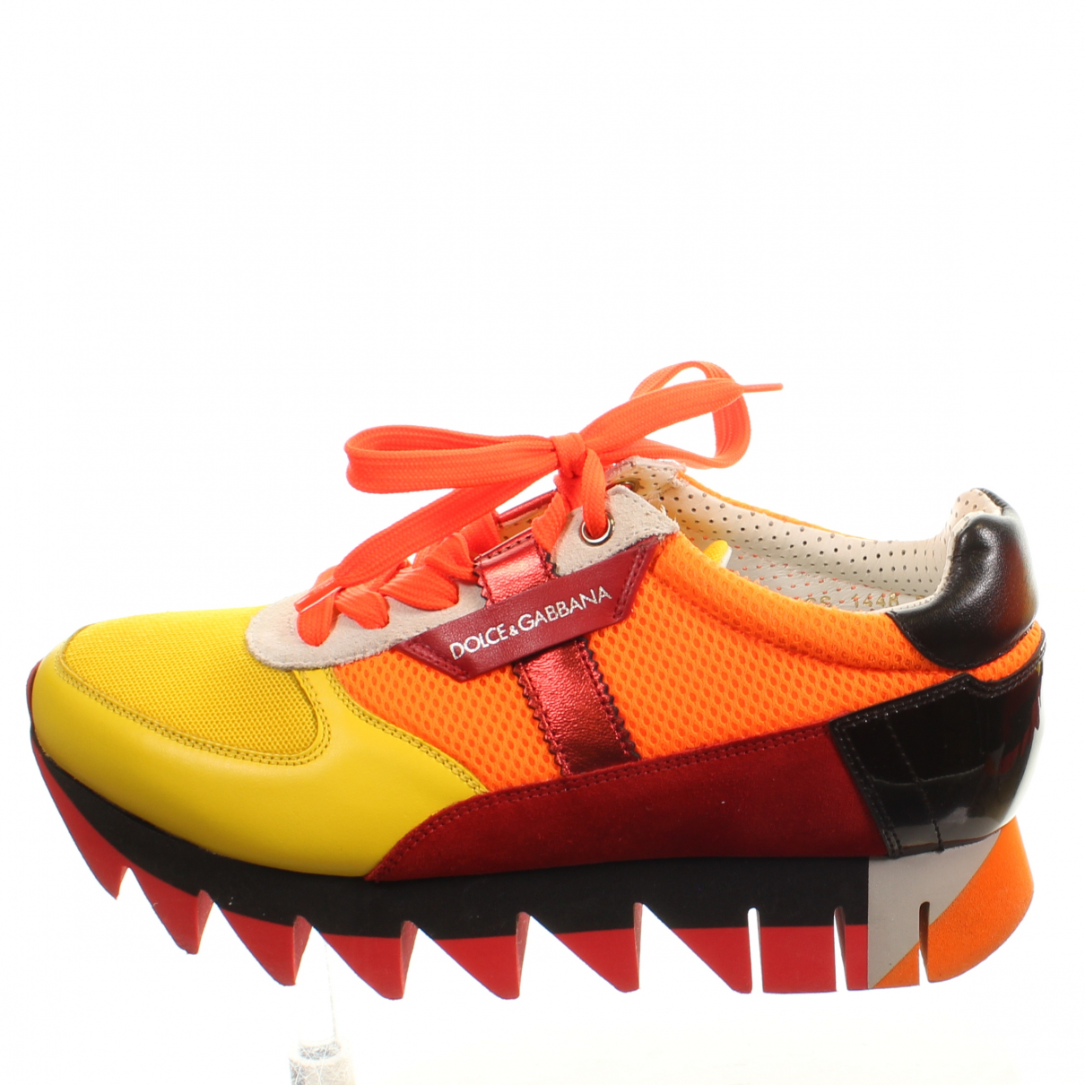 Dolce & Gabbana \N Sneakers in  Orange Leder