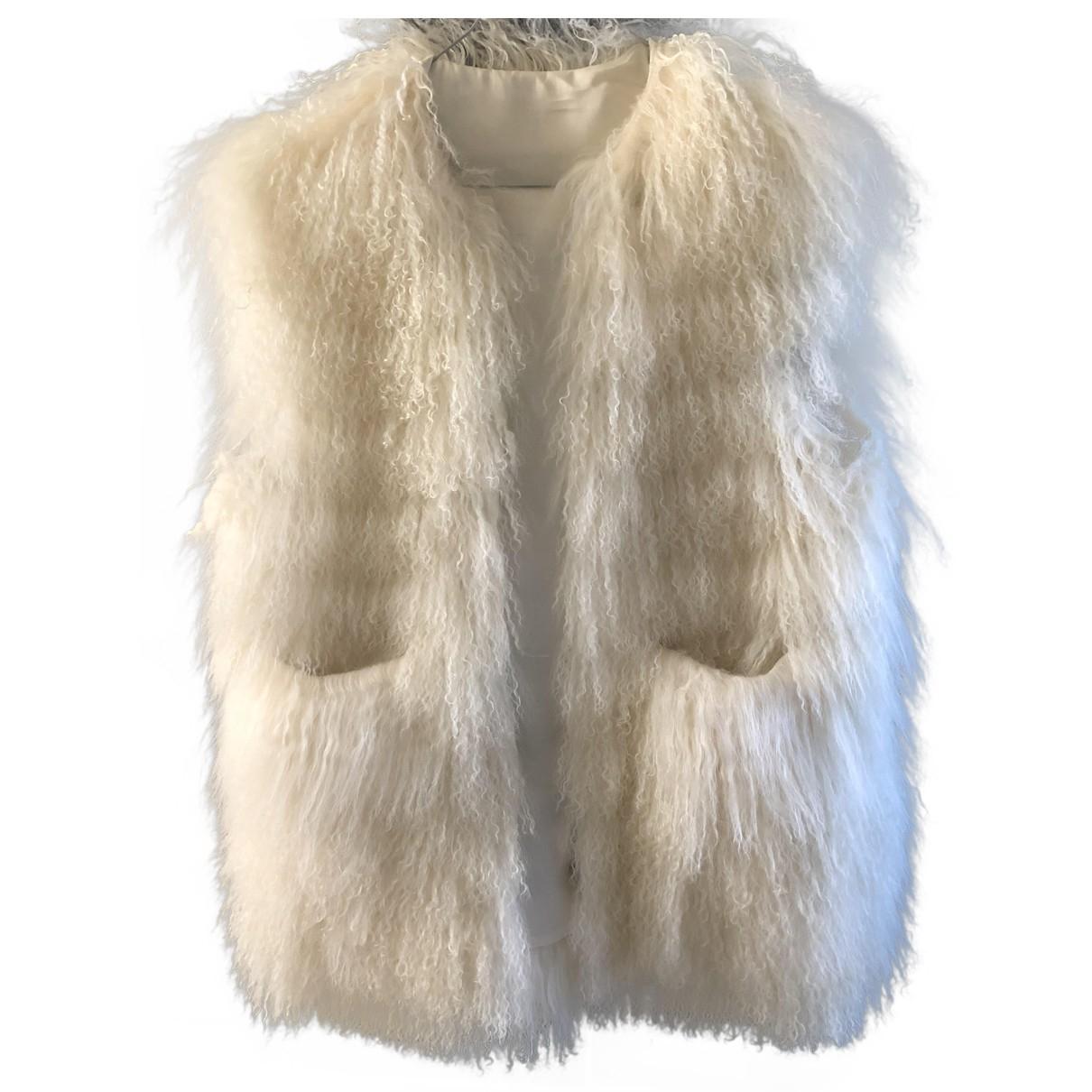 Sacai N Ecru Mongolian Lamb jacket for Women 2 0-5
