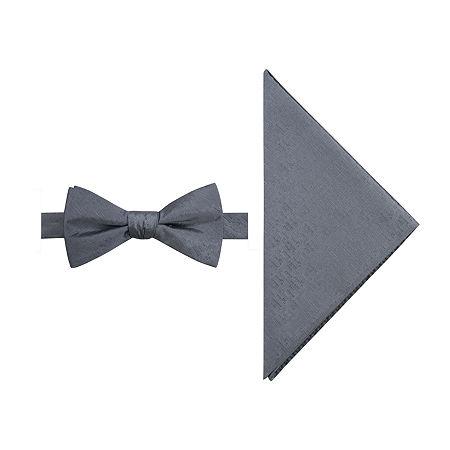JF J.Ferrar Prom Bow Tie Set, One Size , Gray
