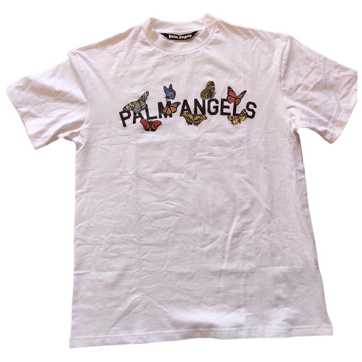 Palm Angels - Tee shirts   pour homme en coton - blanc
