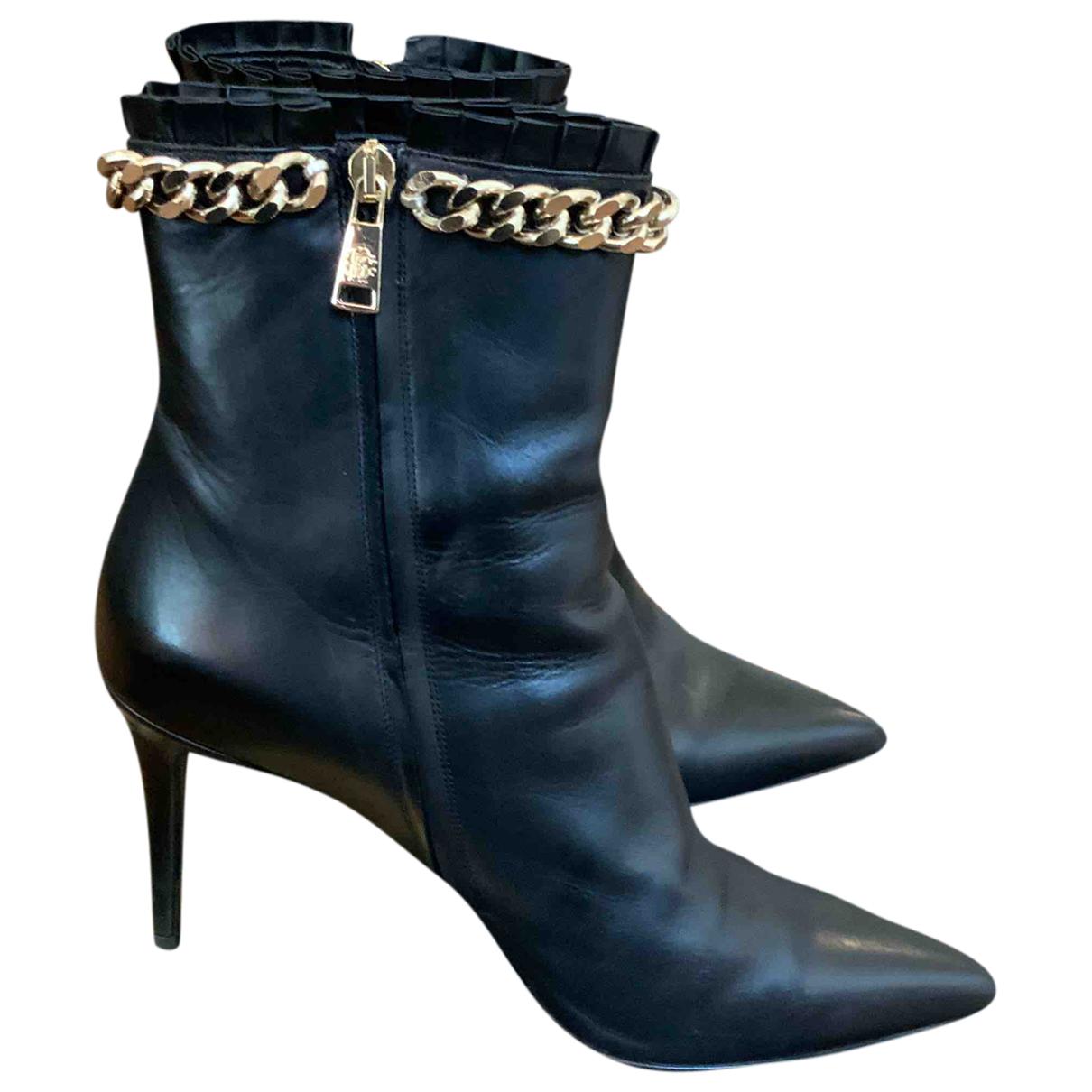 Roberto Cavalli - Boots   pour femme en cuir - noir