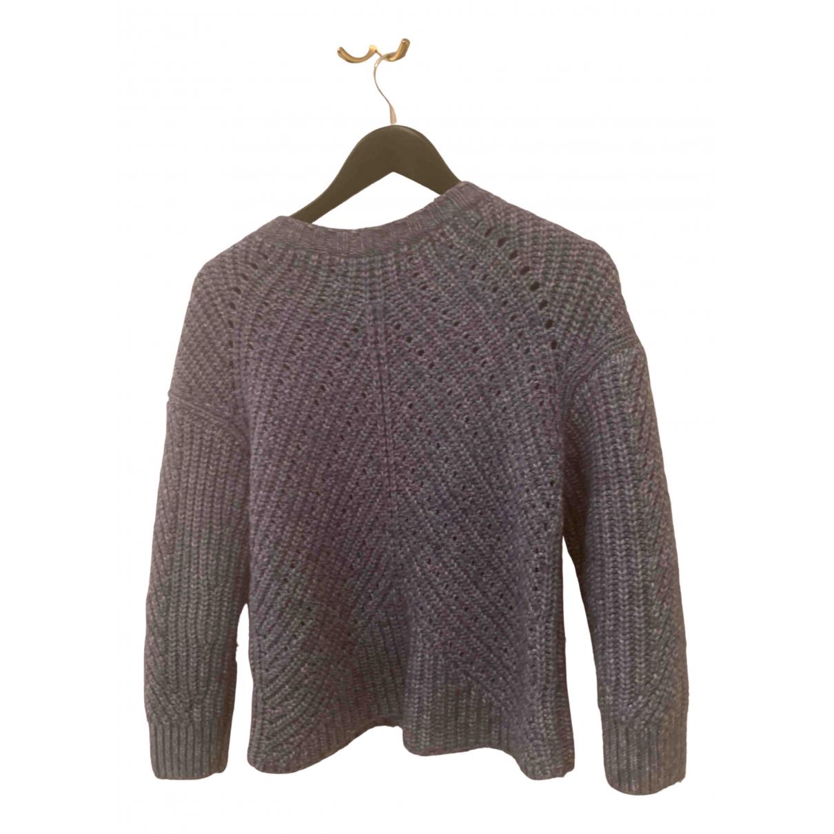 Massimo Dutti - Pull   pour femme en laine - bleu