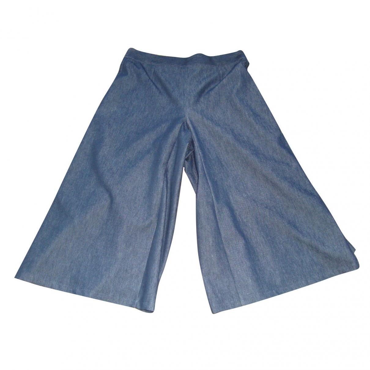 Non Signé / Unsigned \N Blue Denim - Jeans Trousers for Women 42 FR