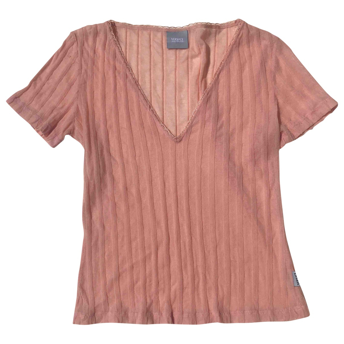 Versace \N Pink Cotton  top for Women 36 FR