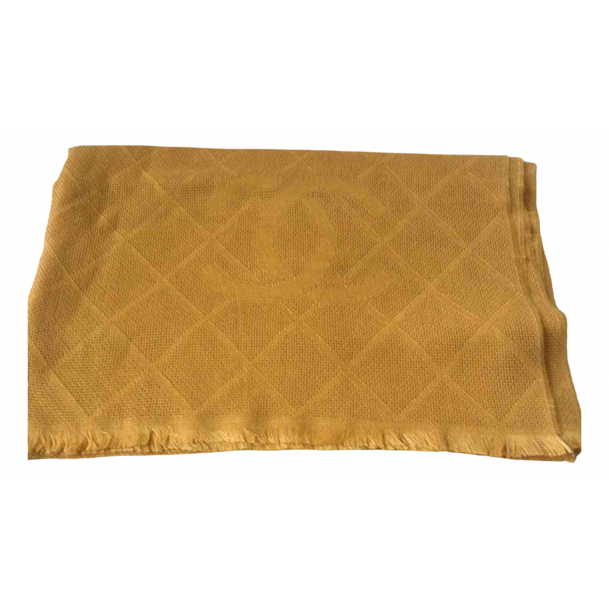 Chanel \N Yellow Cashmere scarf for Women \N