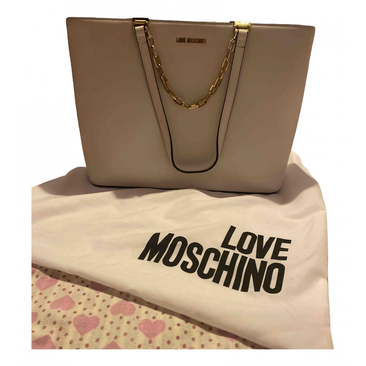Moschino Love - Sac a main   pour femme en fourrure - blanc